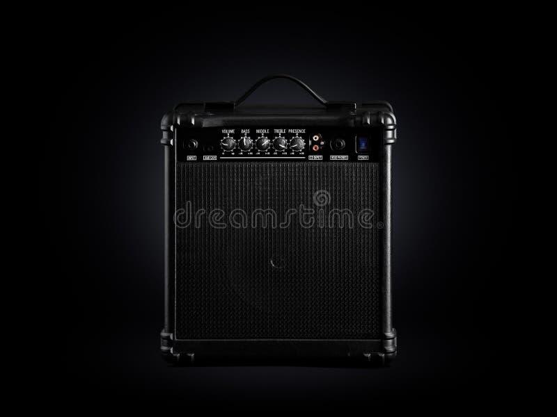 Czarny Basowej gitary amplifikator obrazy royalty free