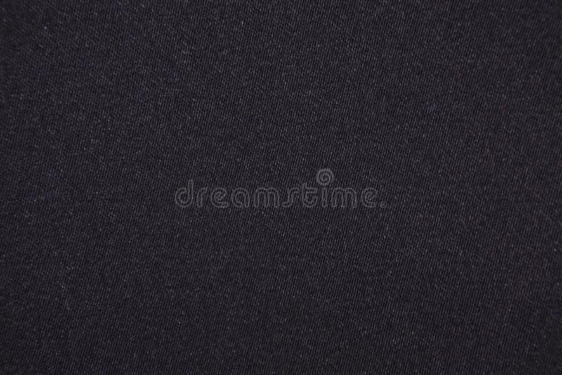 Czarny bawełnianej tkaniny tło fotografia royalty free