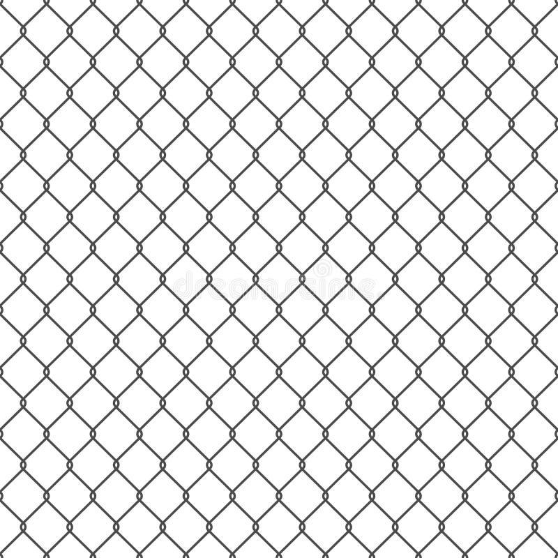Czarny bezszwowy łańcuszkowego połączenia ogrodzenia tło royalty ilustracja