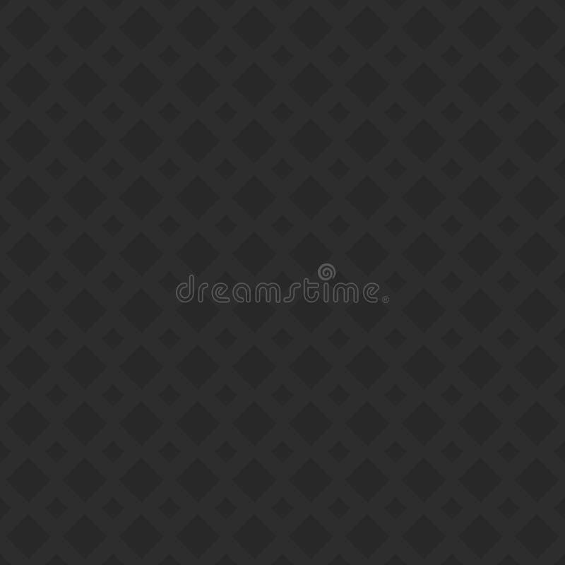 Czarny bezszwowy dziurkowaty przekątna kwadrata wzoru tekstury tło - 3d geometryczny wektorowy projekt ilustracji