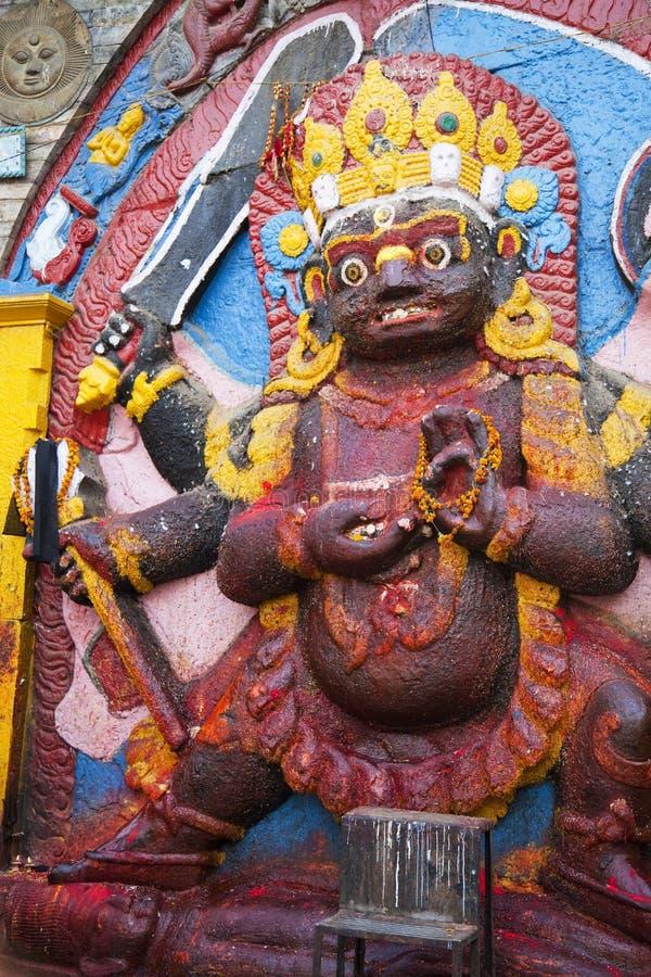 czarny bhairav kala Kathmandu Nepal obraz stock