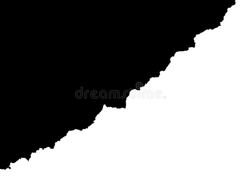 czarny białe tło royalty ilustracja