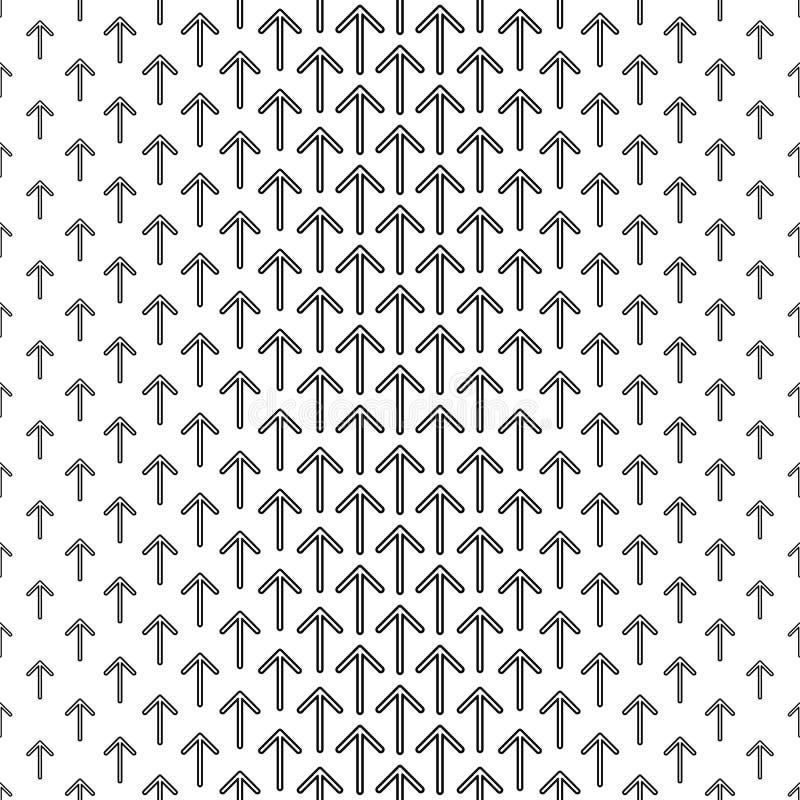 Czarny biały bezszwowy strzała wzór ilustracja wektor
