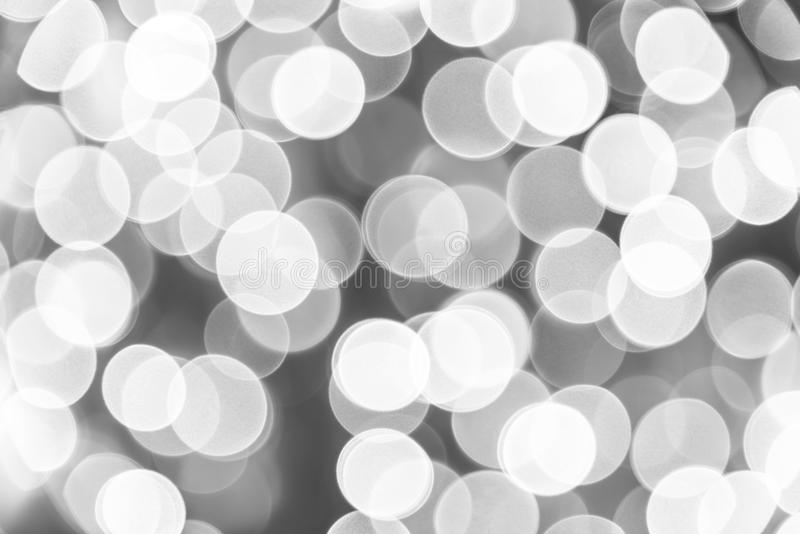 Czarny biały bokeh tło defocused bokeh Monochromatyczny abstra obrazy stock