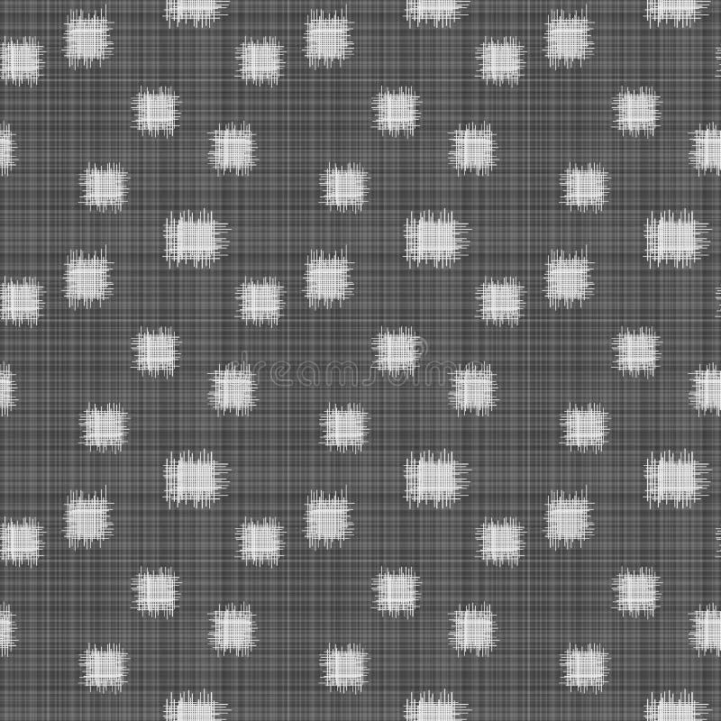 Czarny Biały kwadrat Obszarpuje bezszwowego tło ilustracja wektor