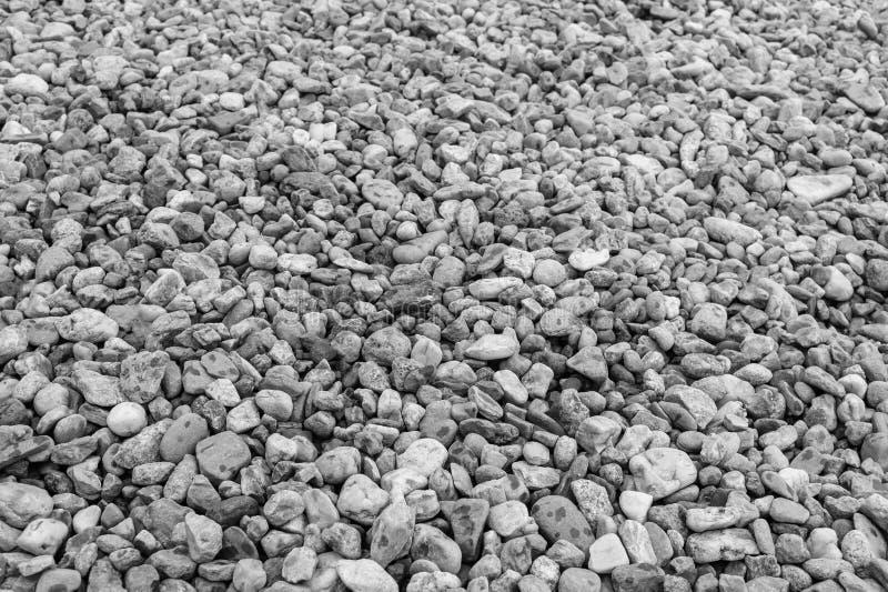 Czarny & biel, denny otoczak od plaży zdjęcie stock