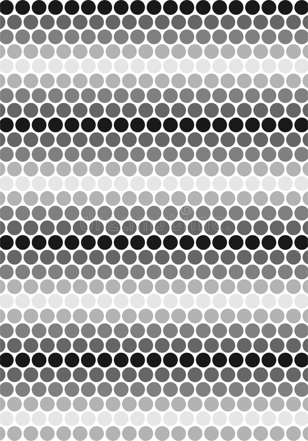 Czarny & biel okregów wzór ilustracji