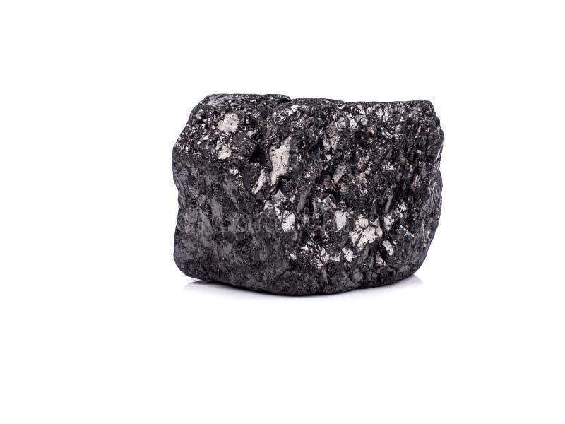 czarny bitumiczny węgiel na białym tle zdjęcie stock