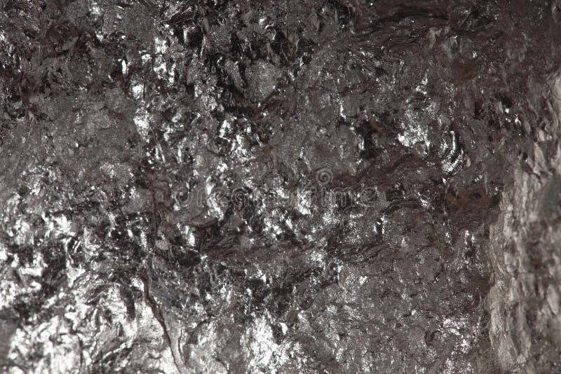 Czarny bitumiczny węgiel, węgiel bryłki tło fotografia stock