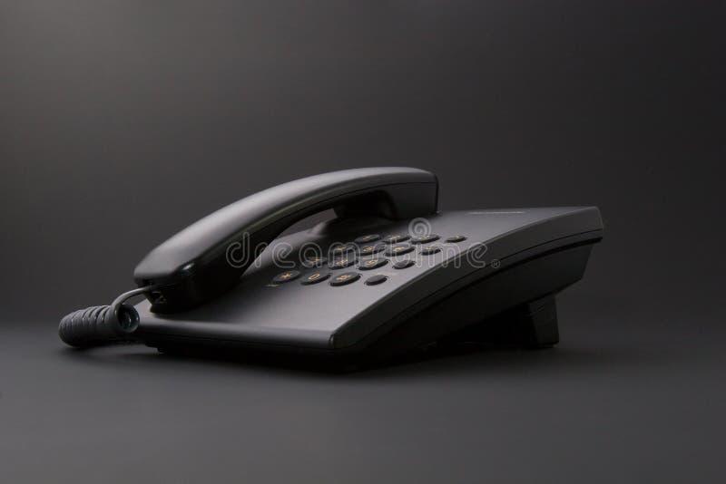 czarny biurowego telefonu poważny narzędzie fotografia royalty free