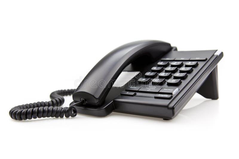 czarny biurowy telefon zdjęcia royalty free