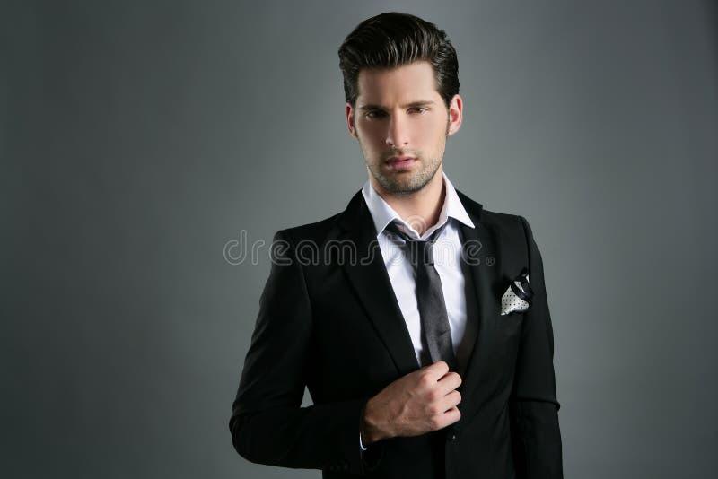 czarny biznesmena przypadkowi mody kostiumu krawata potomstwa fotografia stock