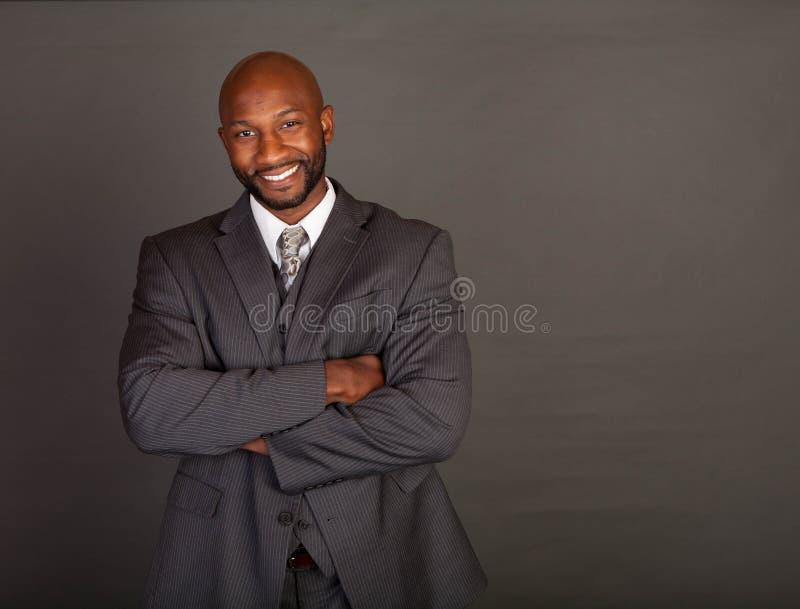 czarny biznesowego mężczyzna potomstwa obraz stock