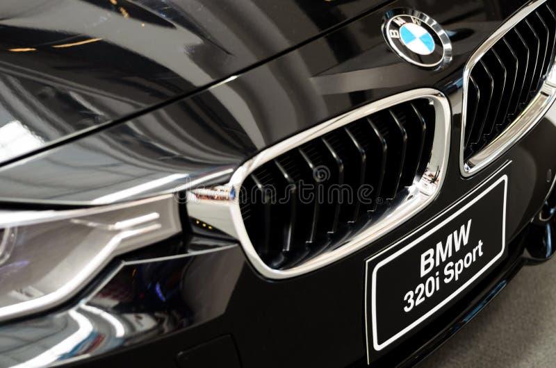 Czarny BMW samochód. obraz stock