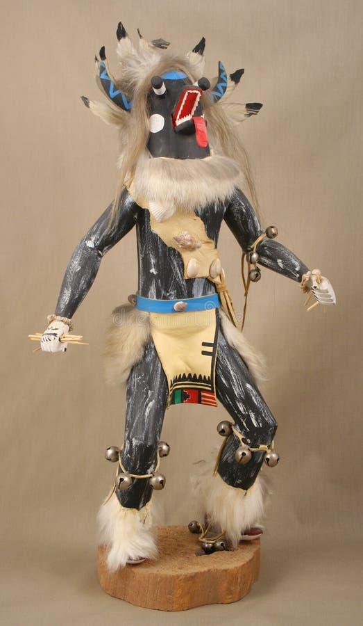 czarny boogey kachina mężczyzna potwór zdjęcie royalty free