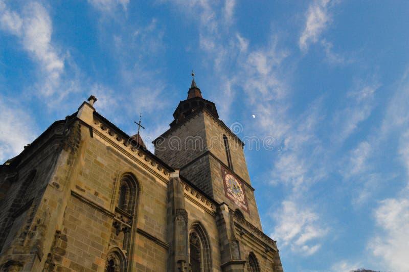 czarny Brasov kościoła zdjęcie stock