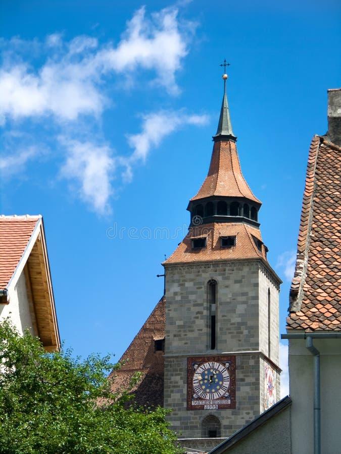 czarny Brasov kościoła Romania fotografia royalty free