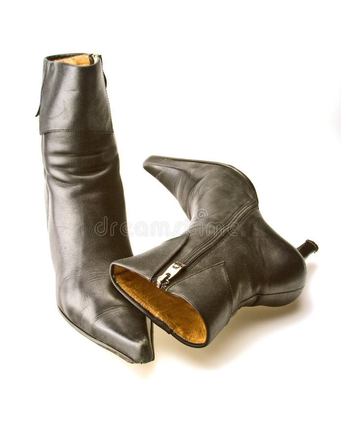czarny buty obraz royalty free