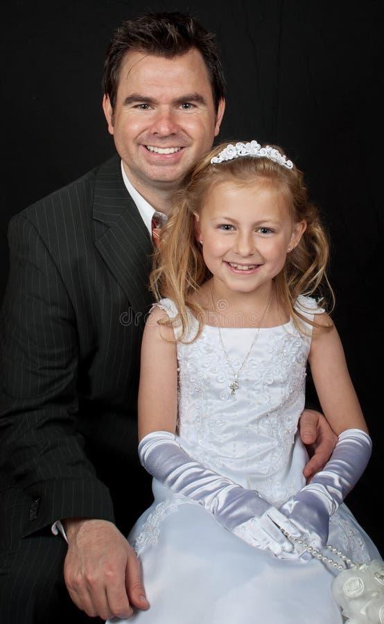 czarny córki ojca portret obrazy royalty free