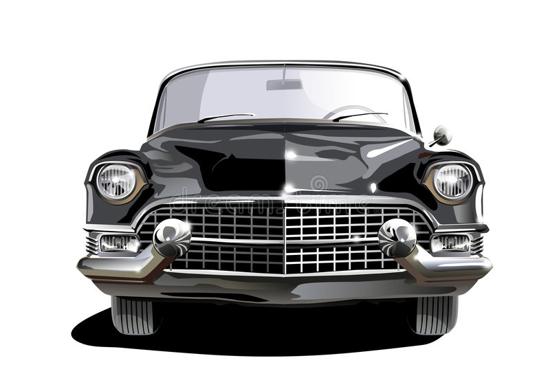 czarny Cadillac ilustracja wektor