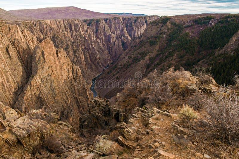 czarny canyon gunnison fotografia stock