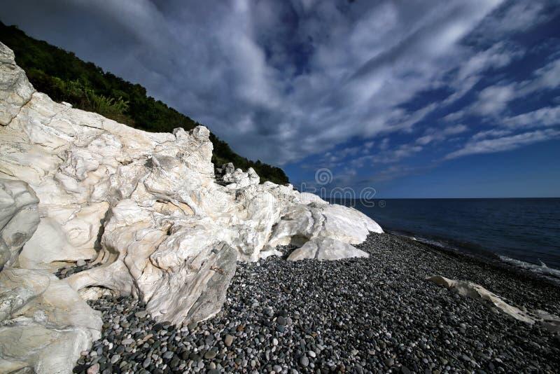 czarny Caucasus miasta wybrze?a morze Sochi fotografia royalty free