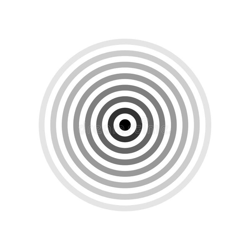 Czarny celu lub bólu lokaci symbol odizolowywający na bielu Wektorowy czerń dzwoni z różną nieprzezroczystością, jeden stuknięcie ilustracji