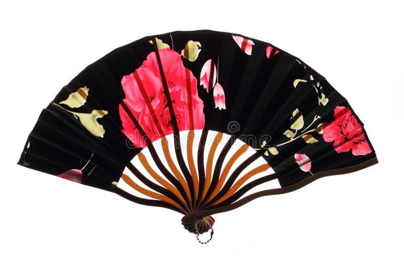 Download Czarny Chinnese Fan Z Różami Obraz Stock - Obraz złożonej z retro, kwiat: 28970887