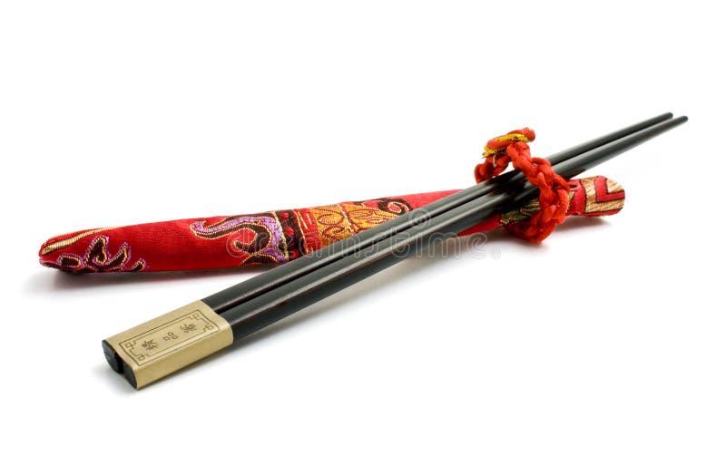 czarny chopsticks okładkowa czerwień obraz royalty free