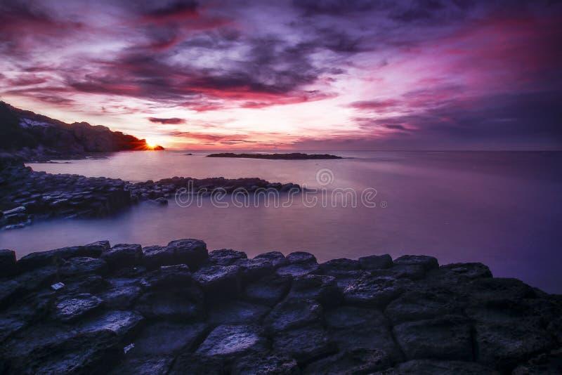 czarny Crimea dag kara halny denny wschód słońca widok obraz royalty free
