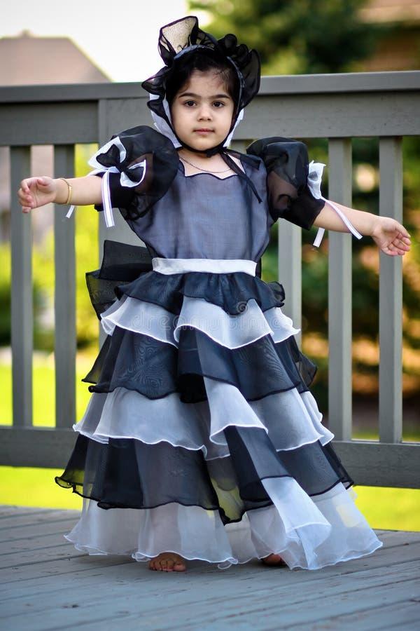 czarny czapeczki sukni princess obraz stock