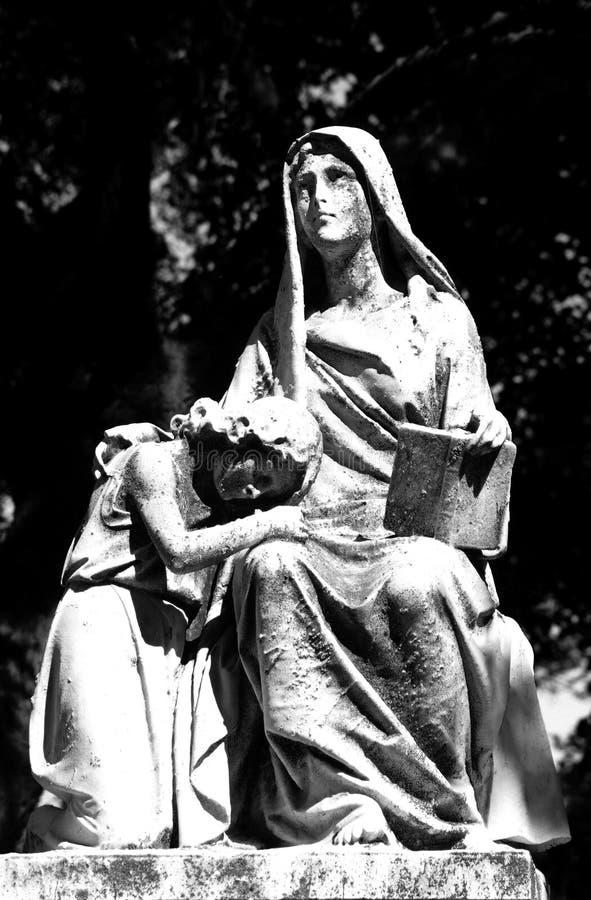 czarny czy biały posąg obraz stock