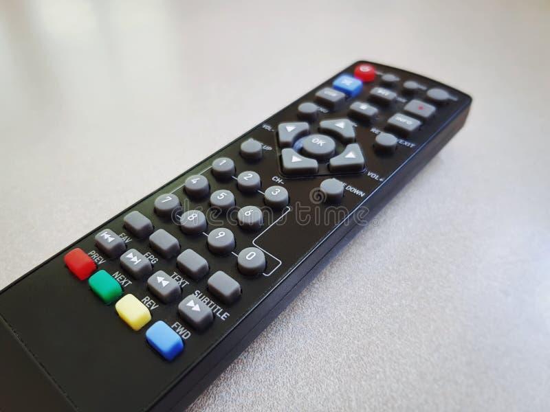 Czarny Daleki kontroler dla Digital TV z Selekcyjną ostrością obrazy stock