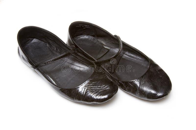 czarny damy dobierać do pary buty zdjęcia royalty free