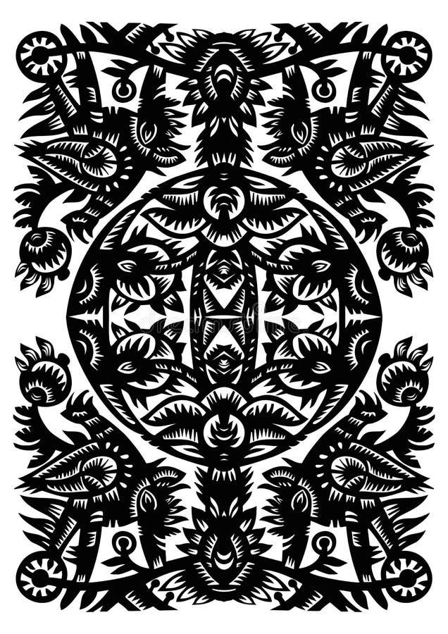 czarny dekoracyjny wzór zdjęcie royalty free