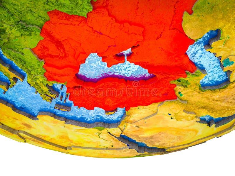 Czarny Denny region na 3D ziemi obrazy royalty free