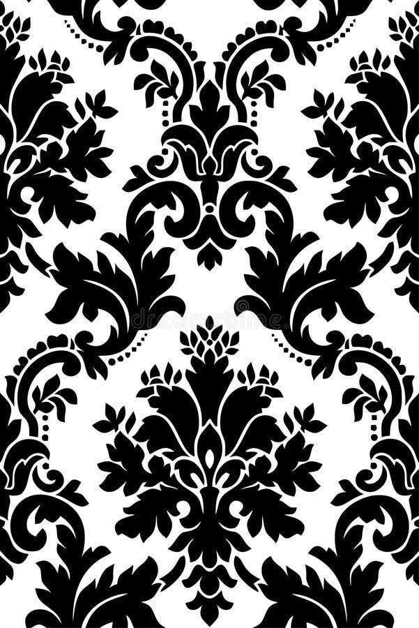 czarny deseniowy biel royalty ilustracja