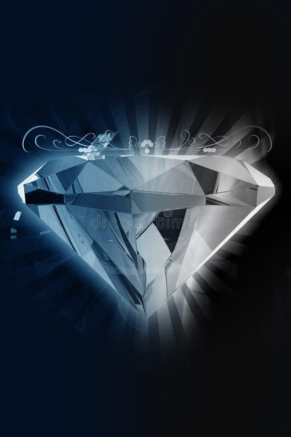 czarny diament royalty ilustracja