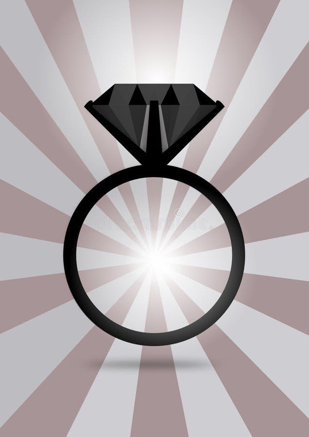 Czarny diament ilustracji