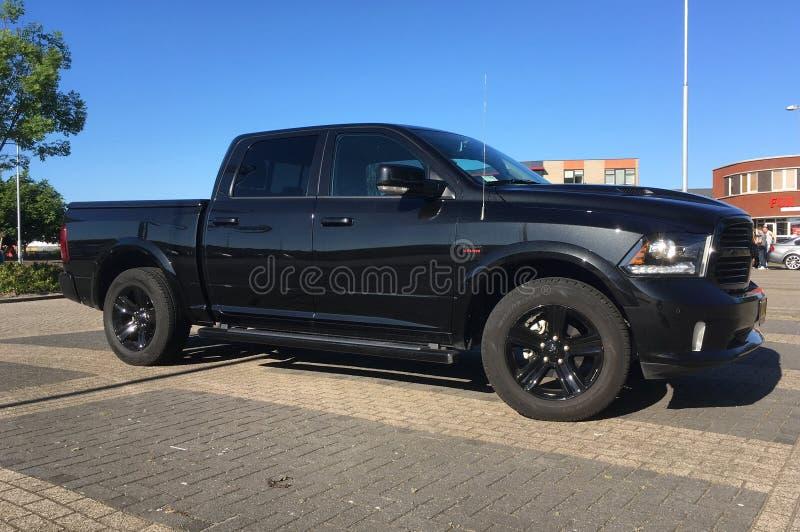 Czarny Dodge baranu wybór zdjęcie stock