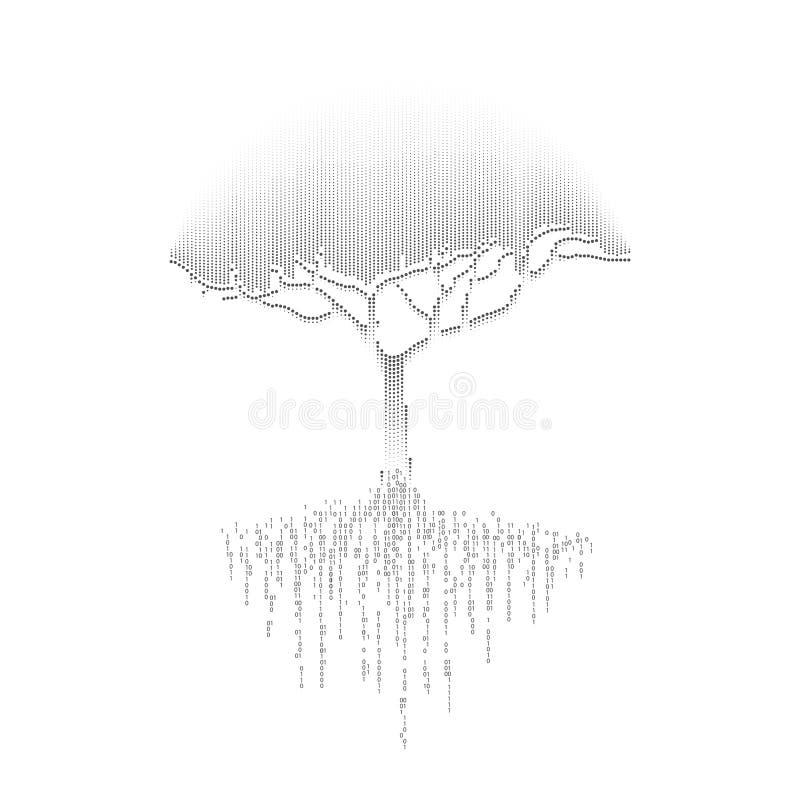 czarny drzewo royalty ilustracja