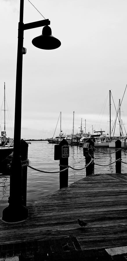 Czarny dzień na doku obrazy stock