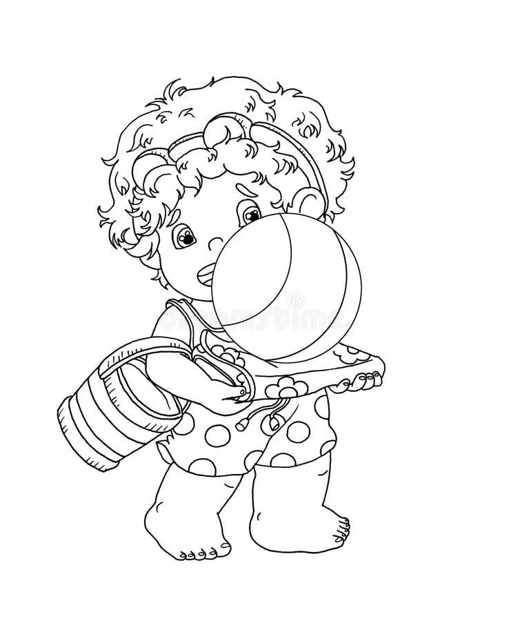 czarny dziecka ładny biel ilustracji