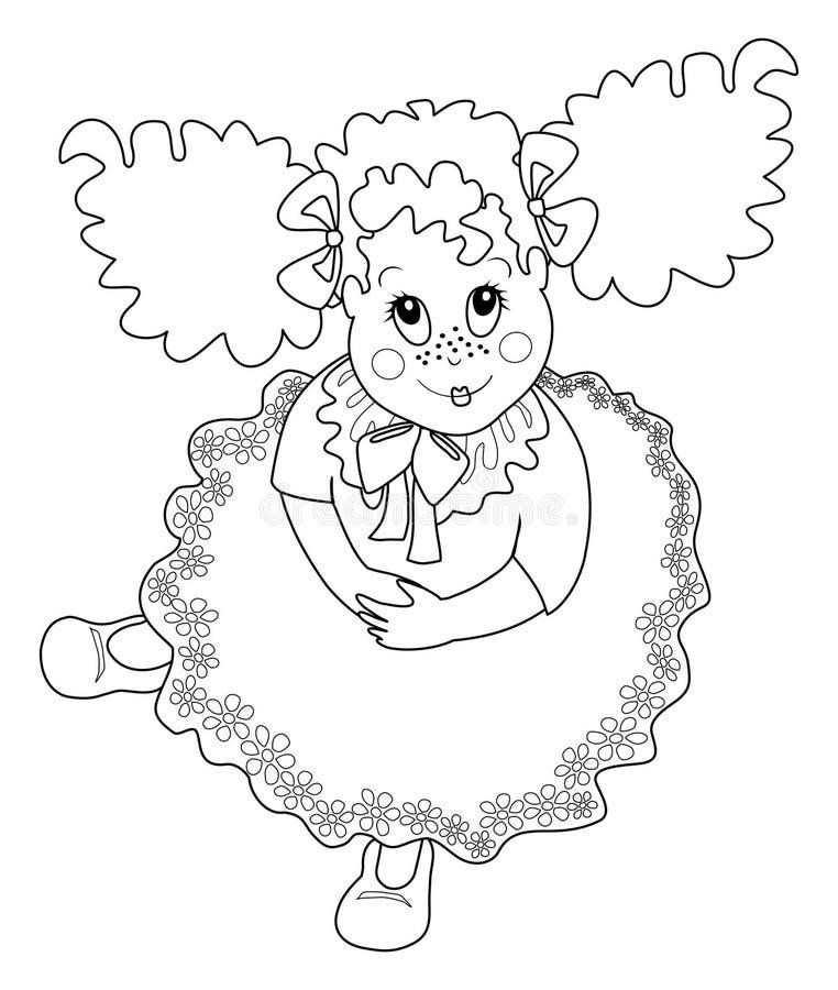 czarny dziecka koloru dziewczyny wizerunek biel ilustracji