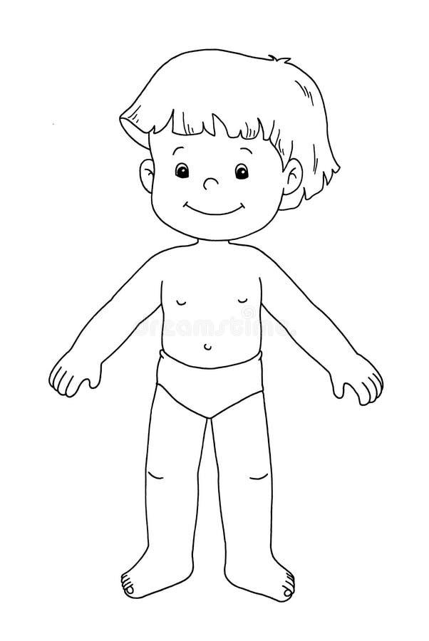czarny dziecka męski biel ilustracji