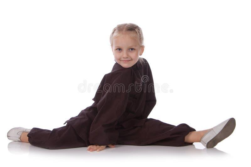 czarny dziewczyny karateka kimono zdjęcie royalty free