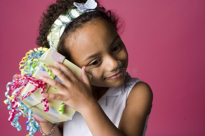czarny dziewczyny portreta teraźniejszości potomstwa zdjęcie stock
