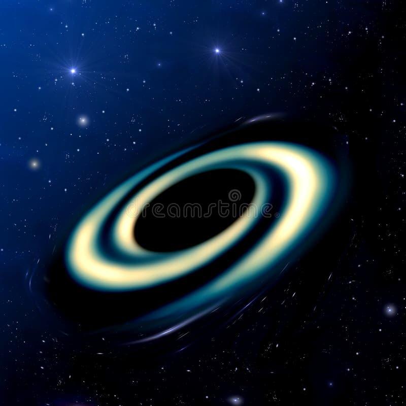 czarny dziura ilustracja wektor
