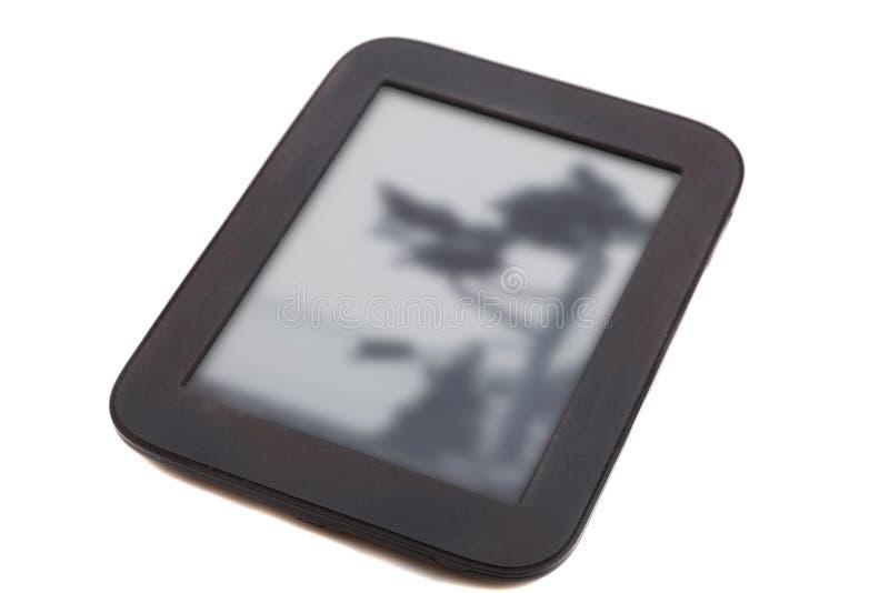 Czarny ebook czytelnik zdjęcia royalty free
