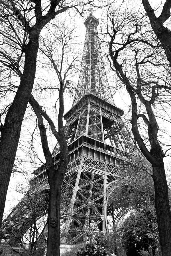 czarny Eiffel Paris stylu wierza biel zdjęcia royalty free